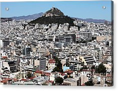 Athens City View Acrylic Print by John Rizzuto