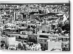 Athens Cityscape I Acrylic Print by John Rizzuto