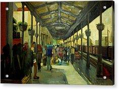 Athens Larissa Railway Station Acrylic Print by George Siaba