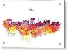 Athens Skyline Acrylic Print