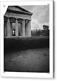Athens Temple Of Ephesus Acrylic Print by Luca Baldassari
