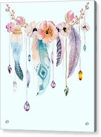 Atherstone Feather Spirit Gazer Acrylic Print