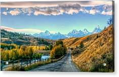 Atherton View Of Tetons Acrylic Print by Charlotte Schafer
