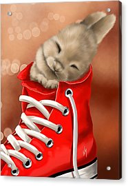 Athletic Rest Acrylic Print by Veronica Minozzi