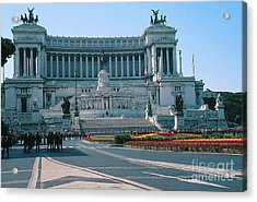 National Monument To King Victor Emmanuel II In Piazza Venezia, Rome Acrylic Print by Greta Corens