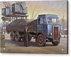 Atkinson At The Docks Acrylic Print by Mike  Jeffries