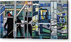 Acrylic Print featuring the painting Atlanic City Abstract No.1 by Patricia Arroyo