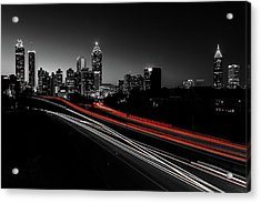 Atlanta Black And White Acrylic Print