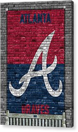 Atlanta Braves Brick Wall Acrylic Print