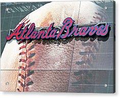 Atlanta Braves Acrylic Print by Kristin Elmquist