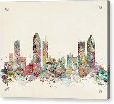 Atlanta City Acrylic Print by Bri B