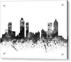 Atlanta Georgia Cityscape 02bw Acrylic Print by Aged Pixel