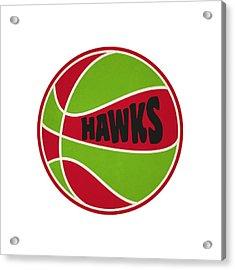 Atlanta Hawks Retro Shirt Acrylic Print by Joe Hamilton