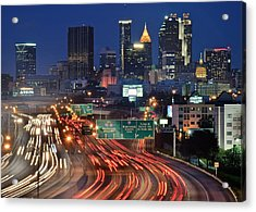 Atlanta Heavy Traffic Acrylic Print by Frozen in Time Fine Art Photography
