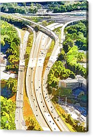 Atlanta Highways Acrylic Print