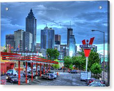 Atlanta Landmark The Varsity Art Acrylic Print by Reid Callaway