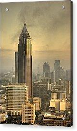Atlanta Skyline At Dusk Acrylic Print by Robert Ponzoni