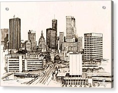 Atlanta Skyline Acrylic Print by Pamir Thompson