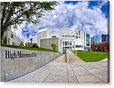 Atlanta's High Museum Acrylic Print by Mark E Tisdale