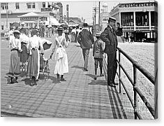 Atlantic City Boardwalk 1902 Acrylic Print