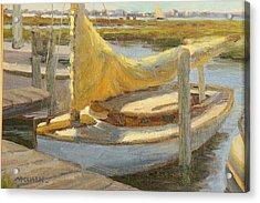 Atlantic City Cat Boat Acrylic Print by Marianne Kuhn