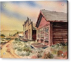 Atlantic City Ghost Town Wyoming Acrylic Print by Kevin Heaney