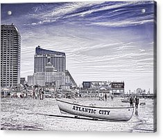 Acrylic Print featuring the photograph Atlantic City by Linda Constant