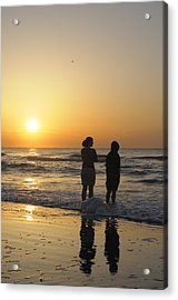 Atlantic Ocean Sunrise - Vertical Acrylic Print by Darrell Young