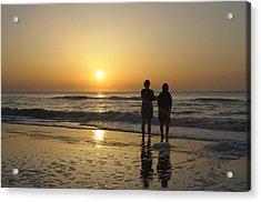 Atlantic Ocean Sunrise Acrylic Print by Darrell Young
