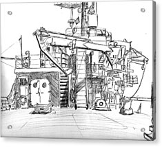 Atlantis II Fantail Acrylic Print