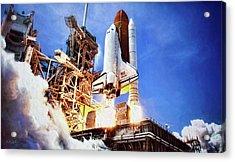 Atlantis Launch Acrylic Print
