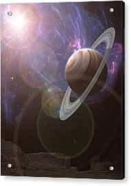 Atlas Acrylic Print by Mark Allen