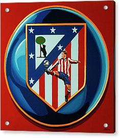 Atletico Madrid Painting Acrylic Print