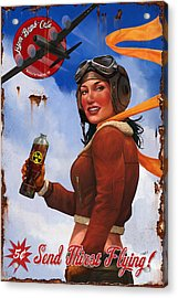Acrylic Print featuring the digital art Atom Bomb Cola Send Thirst Flying by Steve Goad