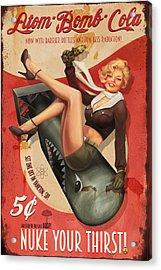 Atom Bomb Cola Acrylic Print