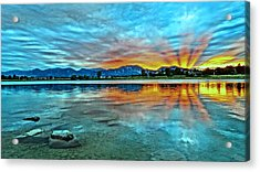 Acrylic Print featuring the photograph Atom  by Eric Dee