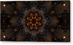 Atomic Flower Acrylic Print by Ricky Jarnagin