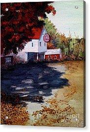 Atomic Gas Station Acrylic Print by Nancie Johnson