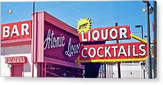 Acrylic Print featuring the photograph Atomic Liquors by Matthew Bamberg
