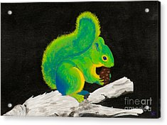 Atomic Squirrel Acrylic Print by Stefanie Forck
