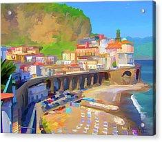 Atrani Italy 01 Acrylic Print by Wally Hampton