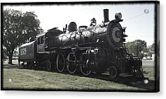 Atsf 2-6-2 Locomotive 1079 Diminished Acrylic Print