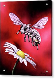 Attack Of The Silver Bee Acrylic Print