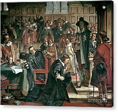 Attempted Arrest Of 5 Members Of The House Of Commons By Charles I Acrylic Print by Charles West Cope
