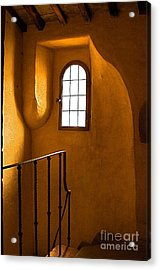 Attic Stairs-fiesole St.francis Monastery Acrylic Print