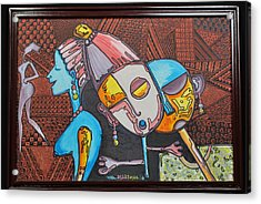 Attraction Of Femininity Acrylic Print by Olawale Babatunde