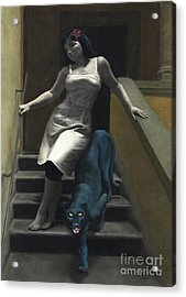 Attraction The Stairs Of Love Acrylic Print by Kelly Borsheim