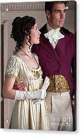 Attractive Regency Couple Acrylic Print