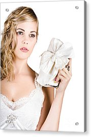 Attractive Young Bride Acrylic Print