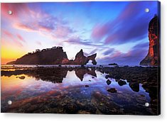 Atuh Beach Dawn Break Scene Acrylic Print